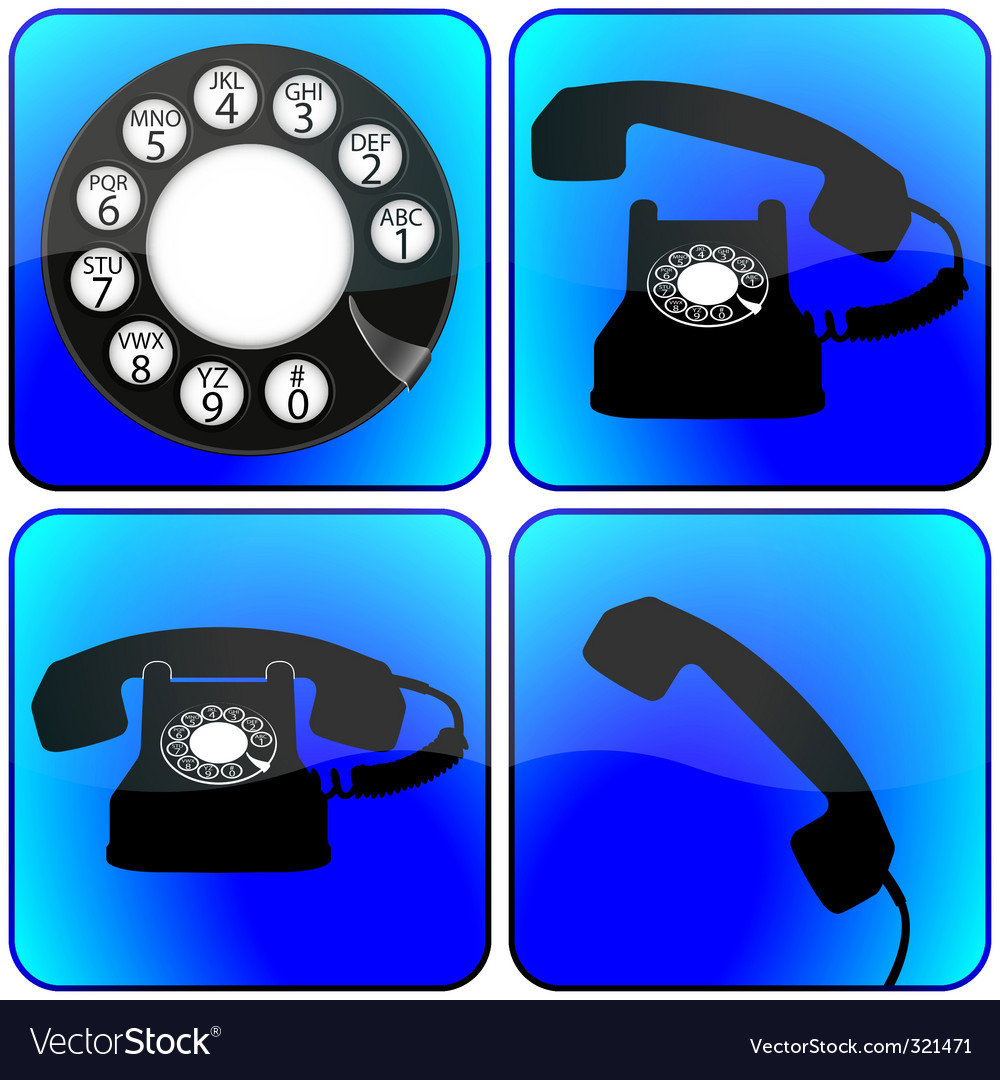 Telephone icons collection vector