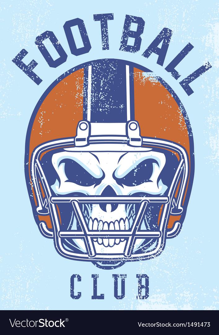 Vintage football club design vector