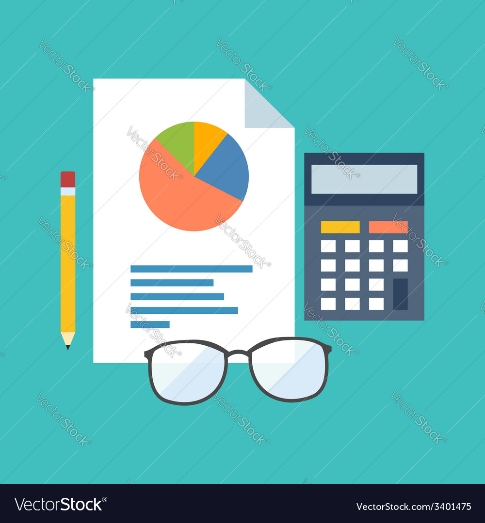 Accounting concept flat design stylish isolated on vector