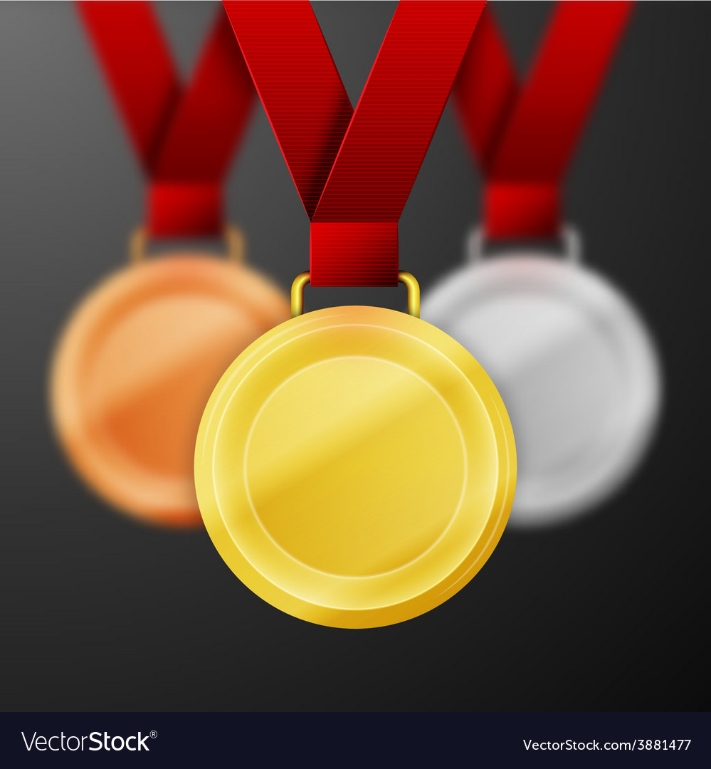Winner medals vector