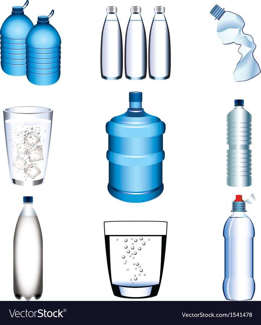 Water set vector