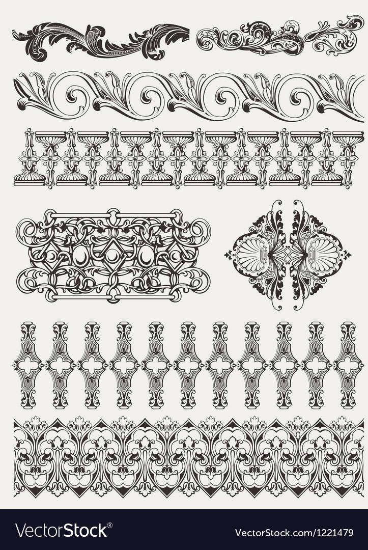 Antique design elements and page decoration vector