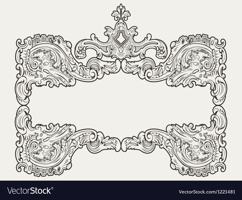 Antique vintage frame vector