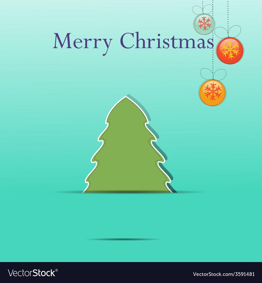 Christmas greeting card template vector