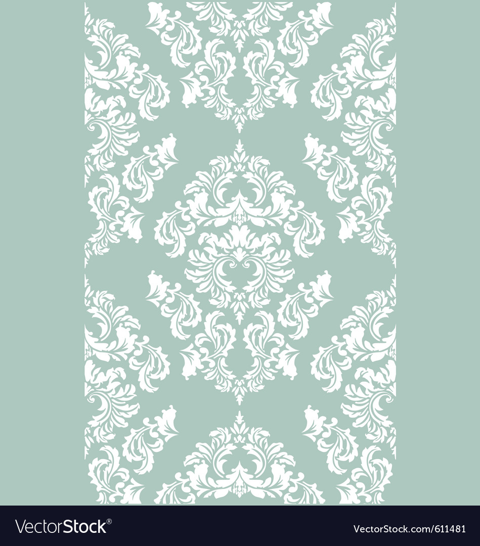Damask floral wallpaper vector