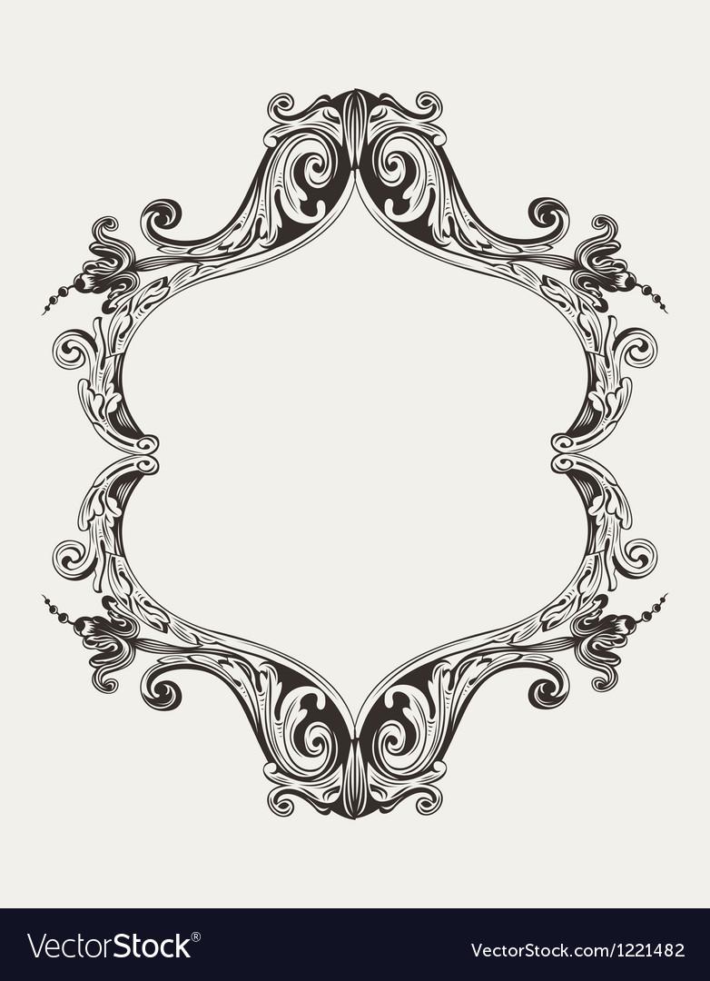Antique vintage royal frame vector