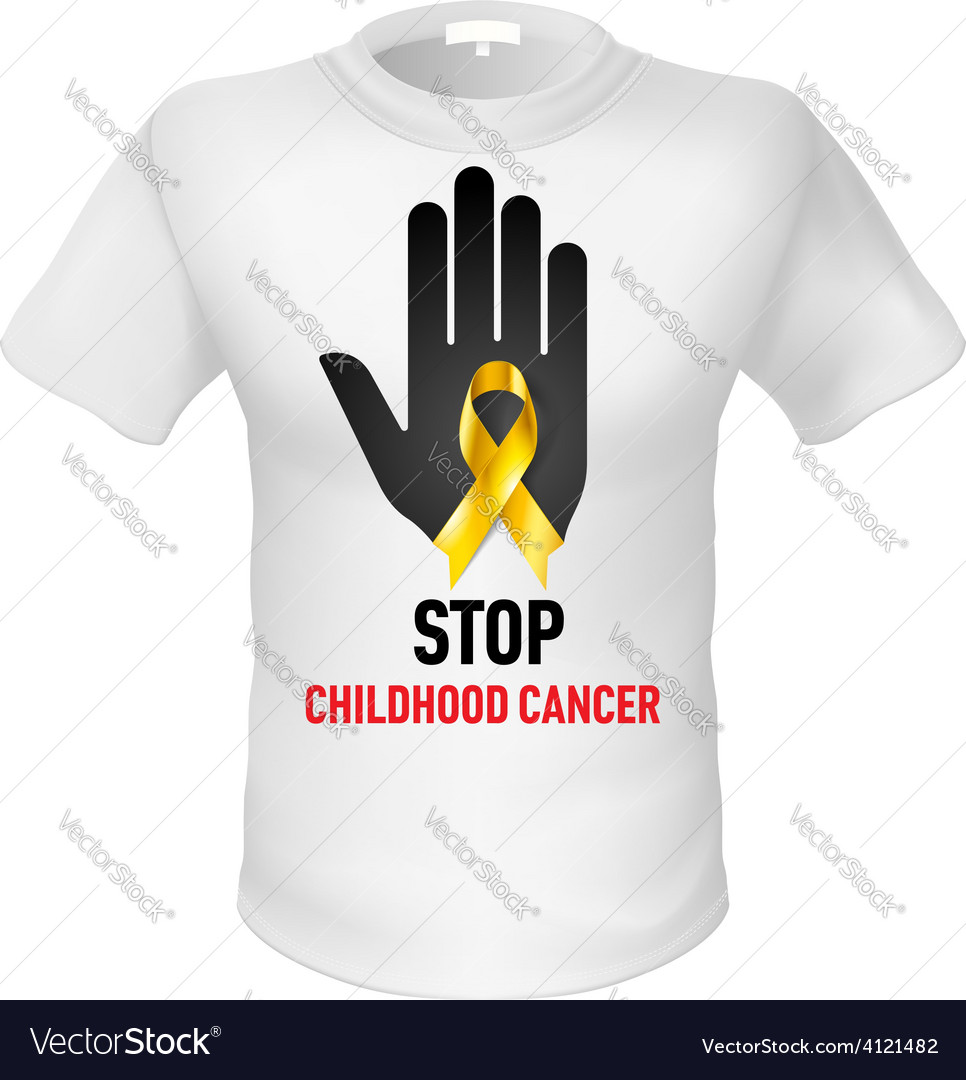 T shirts childhood cancer vector