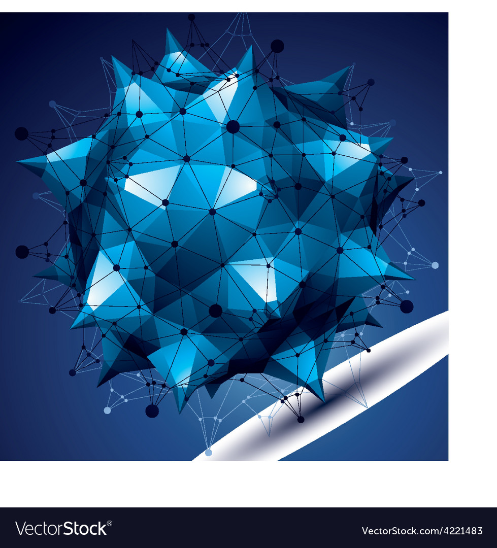 3d abstract design object bright polygonal vector