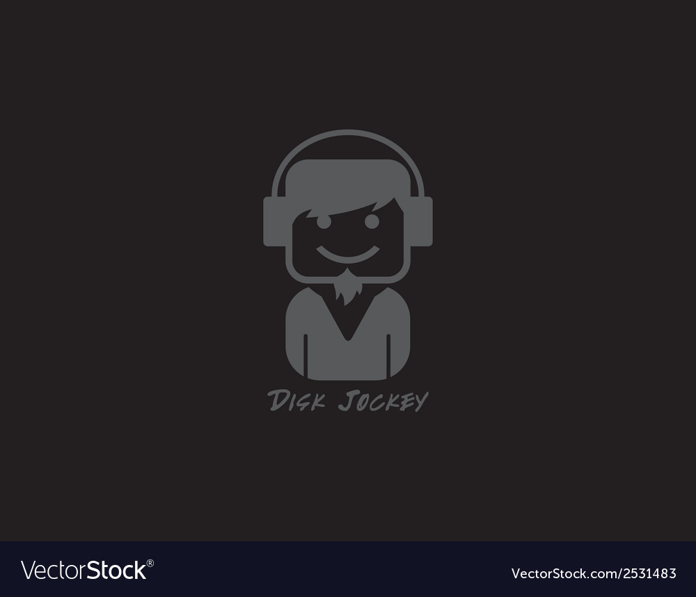 Dj icon vector