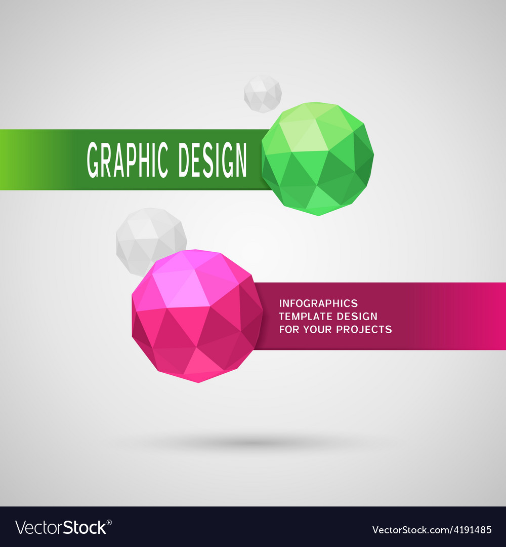 Abstract infographic design with color spheres vector