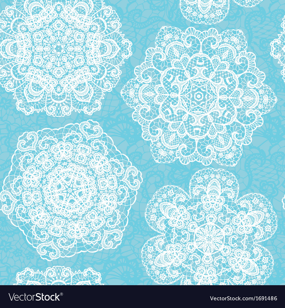 Lace seamless pattern with doilies vector