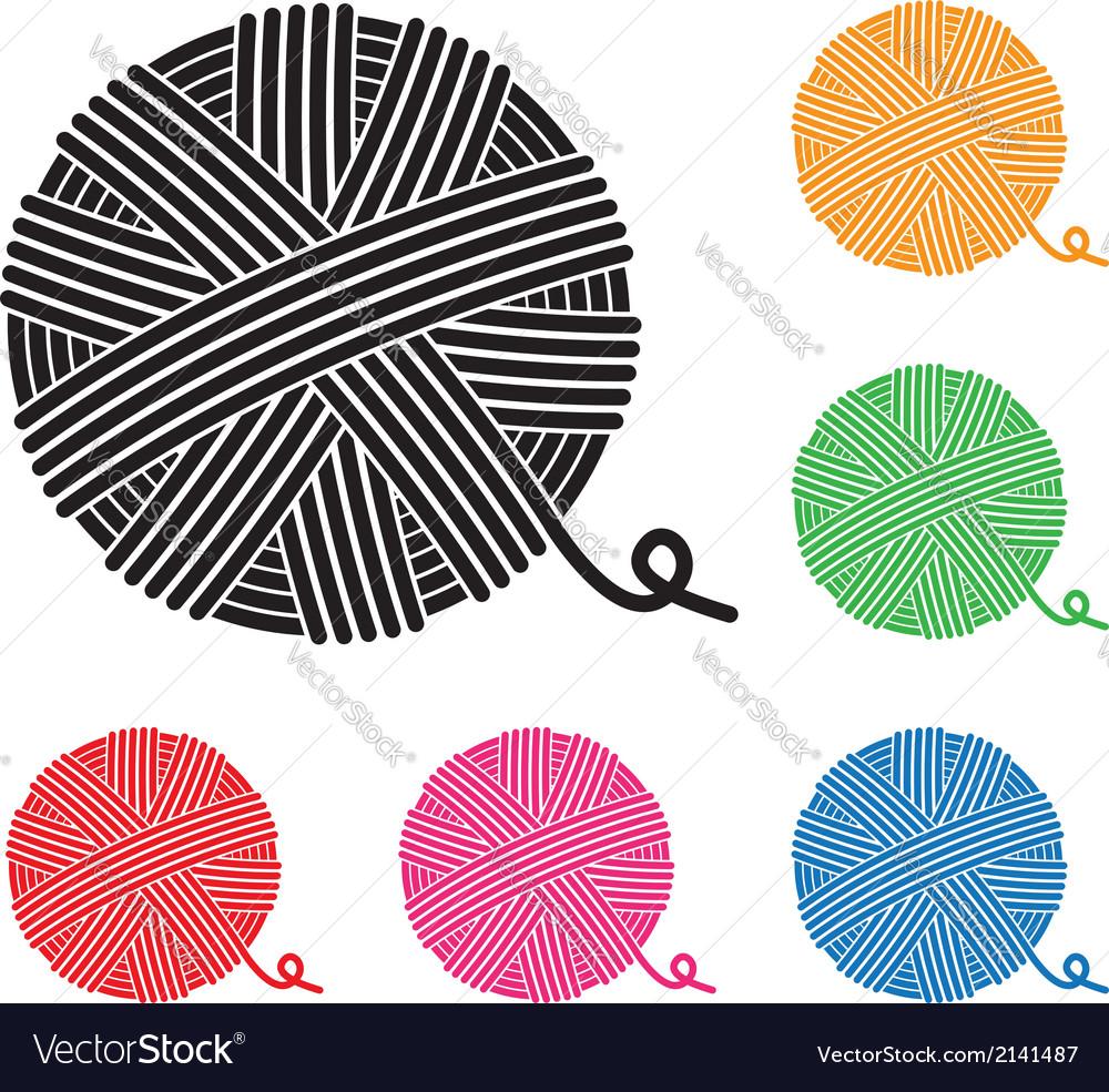 Yarn ball icons vector