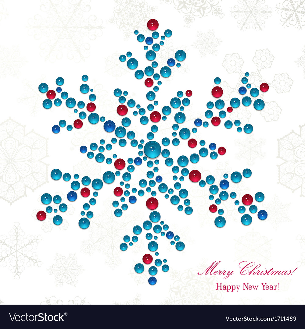 Snowflake made of beads vector