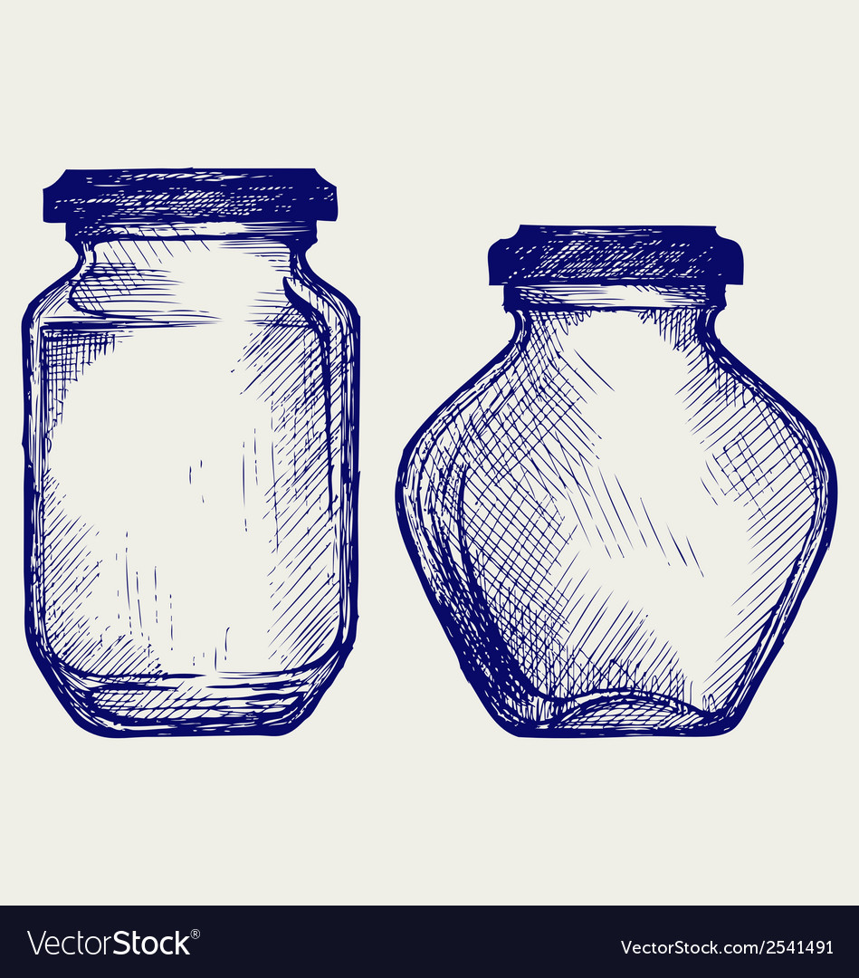 Glass jars vector