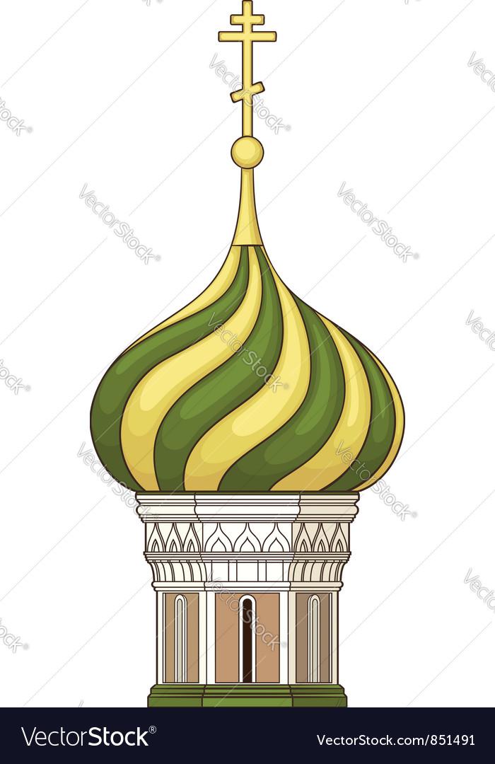 Russian church vector