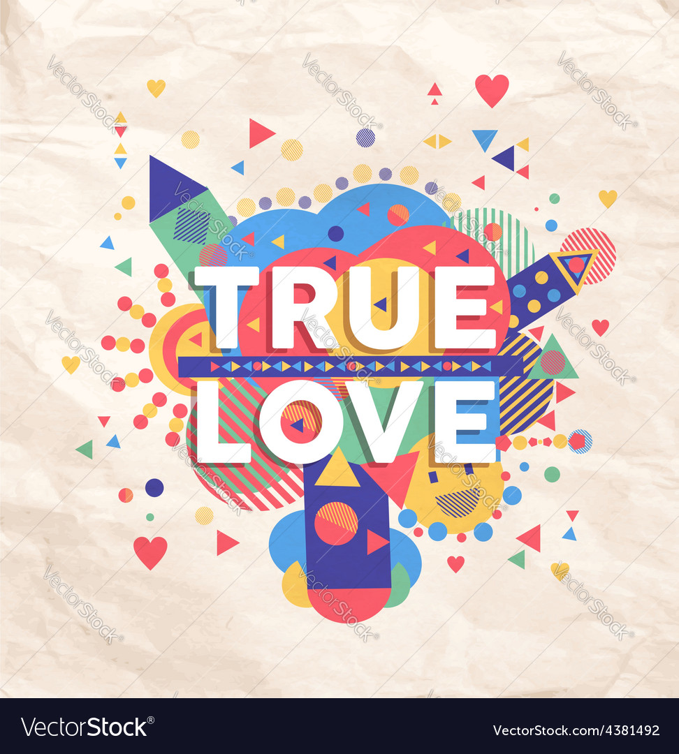 True love quote poster design vector