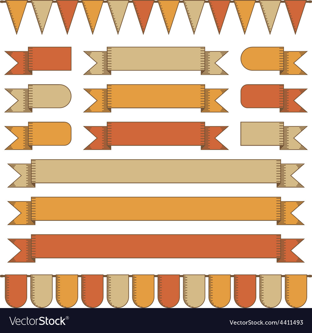 Ribbons and banners vector