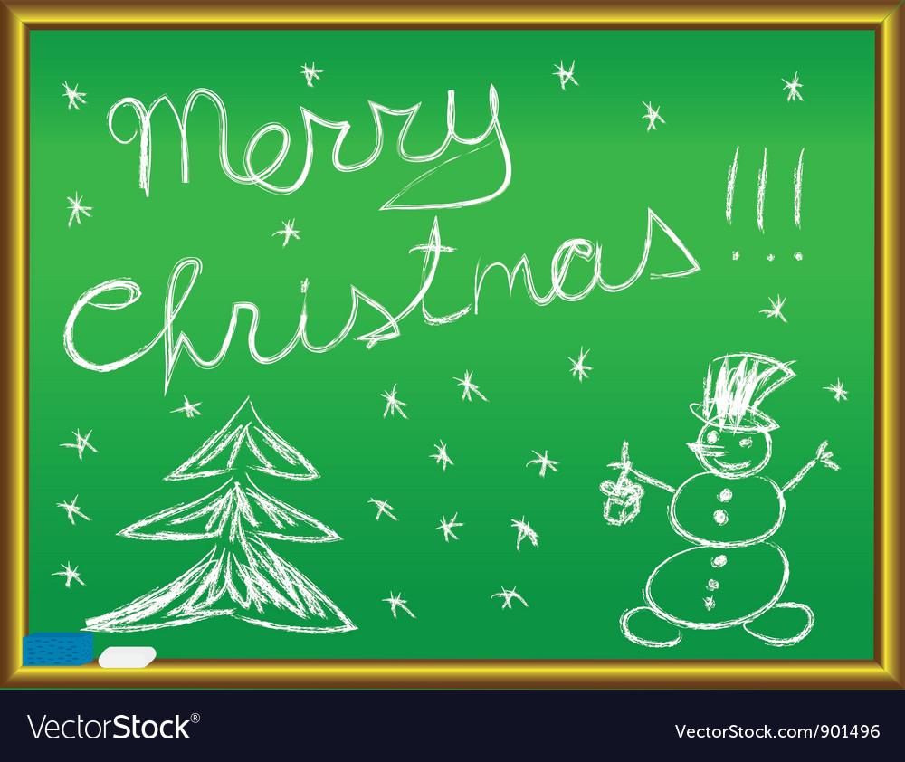 Merry christmas congratulation vector
