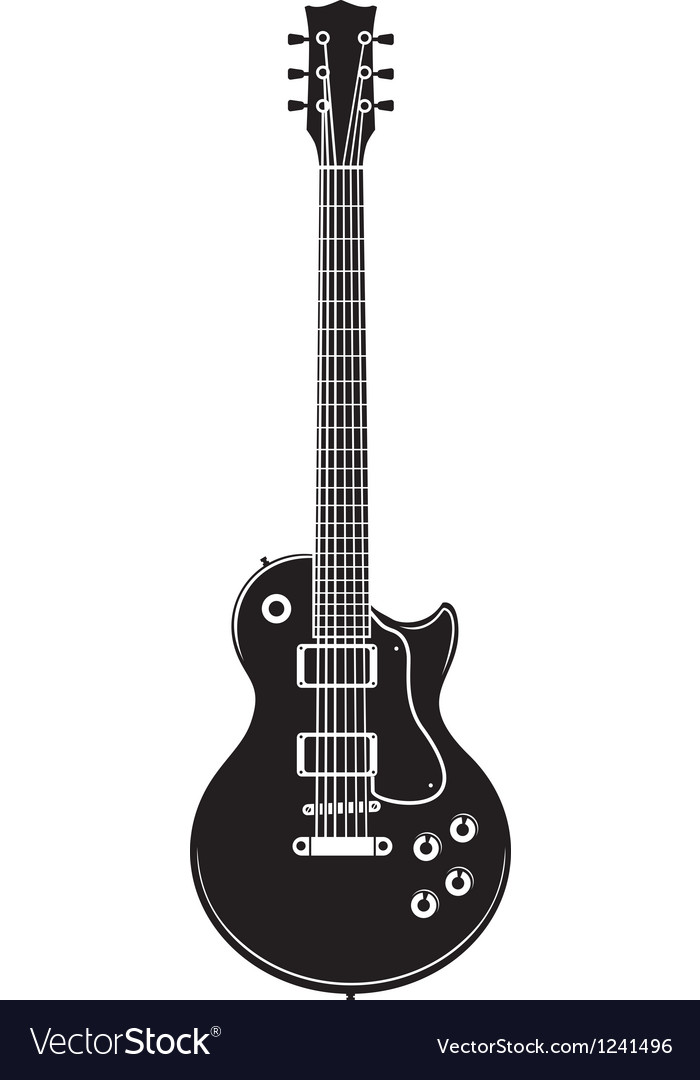 Old rock guitar vector