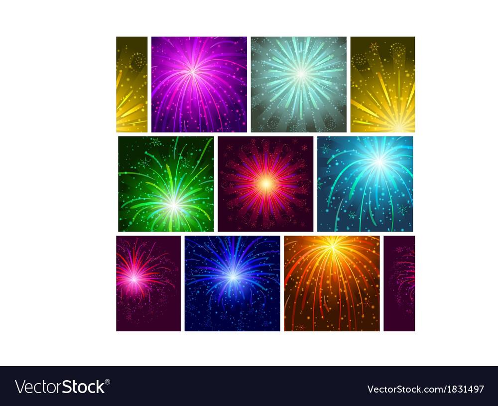 Fireworks seamless vector