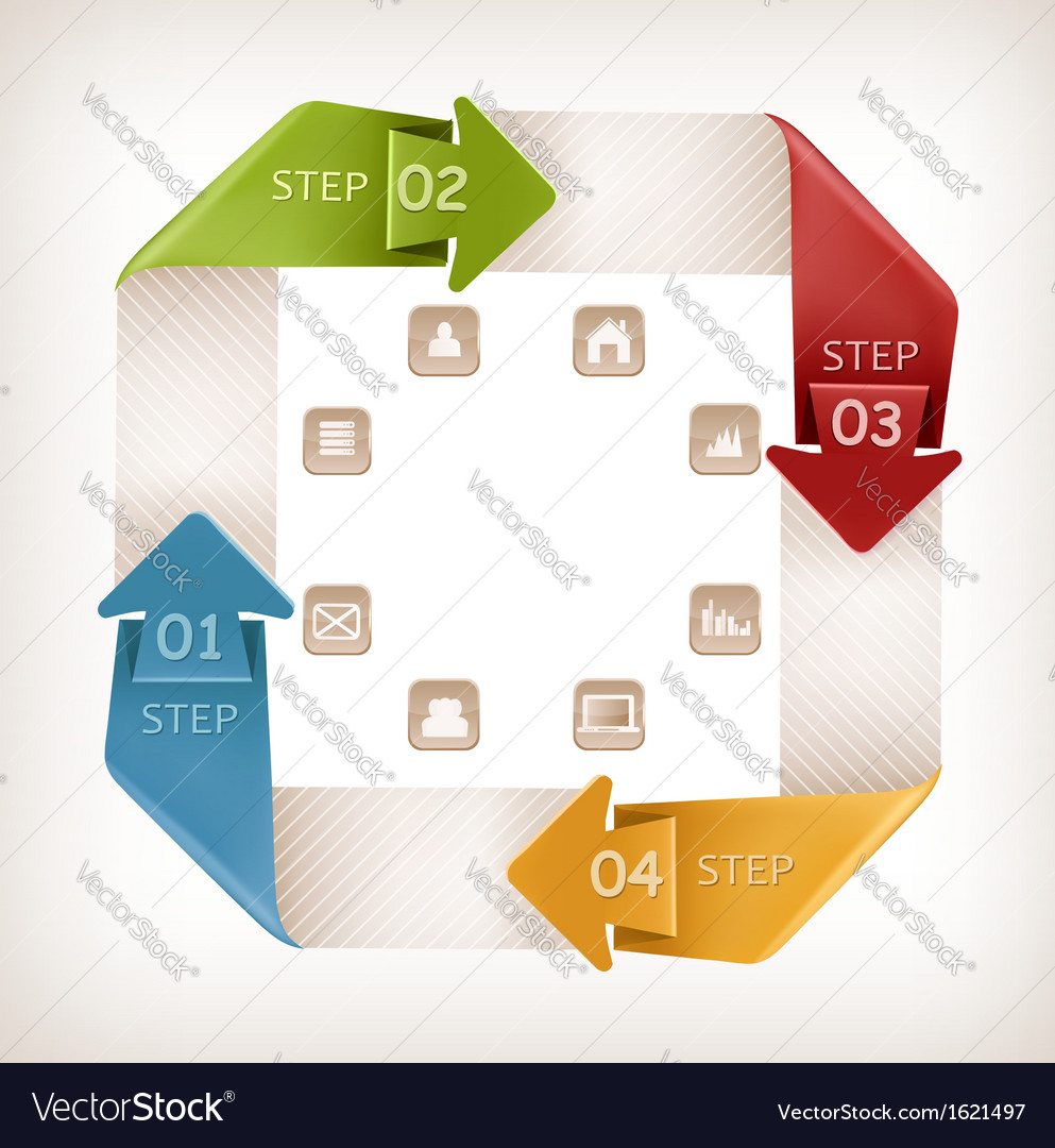 Info graphics banner with icons retro design vector