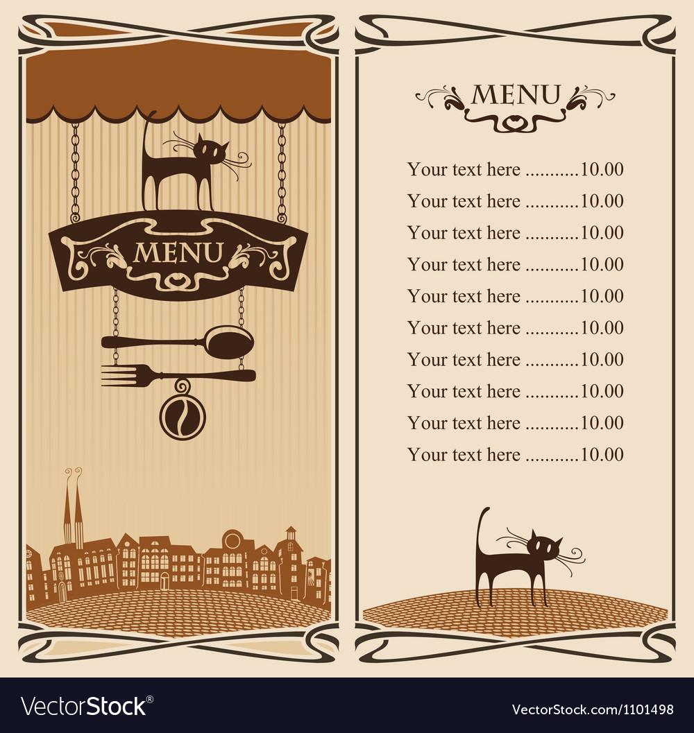 City cafe vector