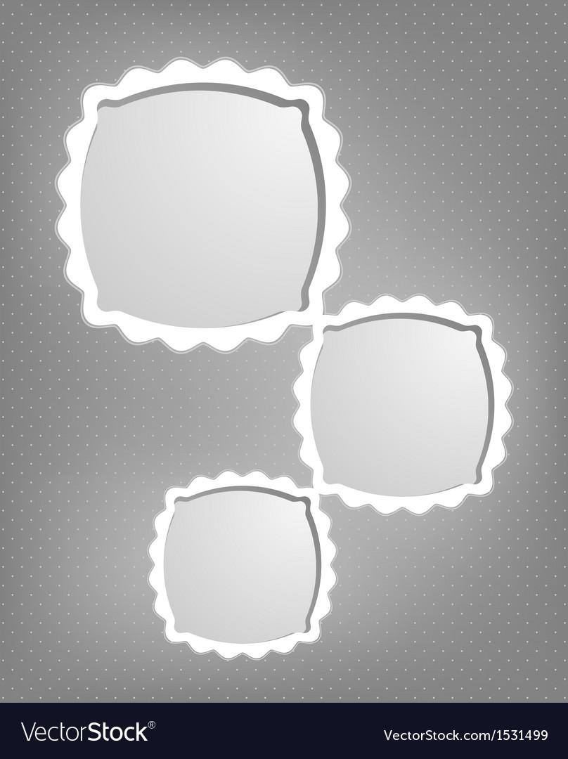 Abstract cartoon frames vector