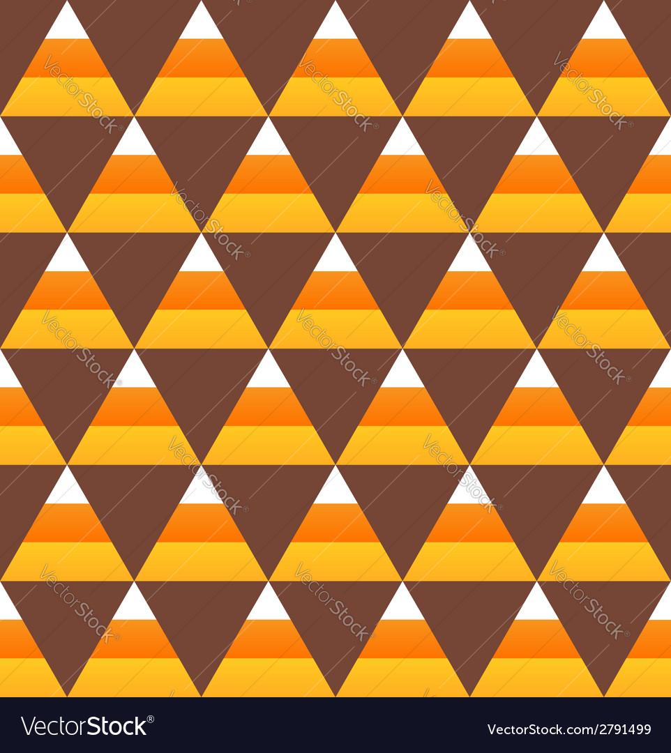 Halloween candy corn seamless pattern vector
