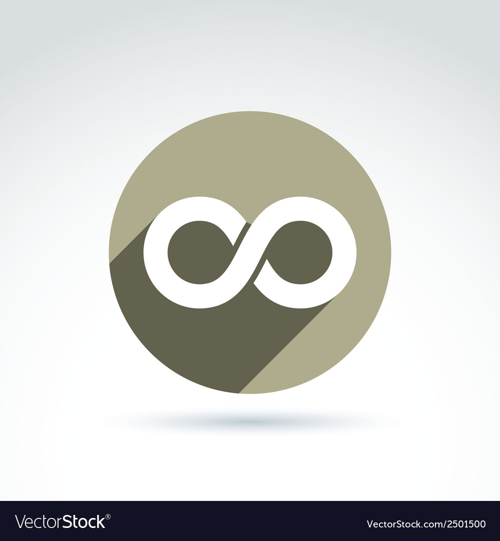 Infinity icon isolated on white background vector