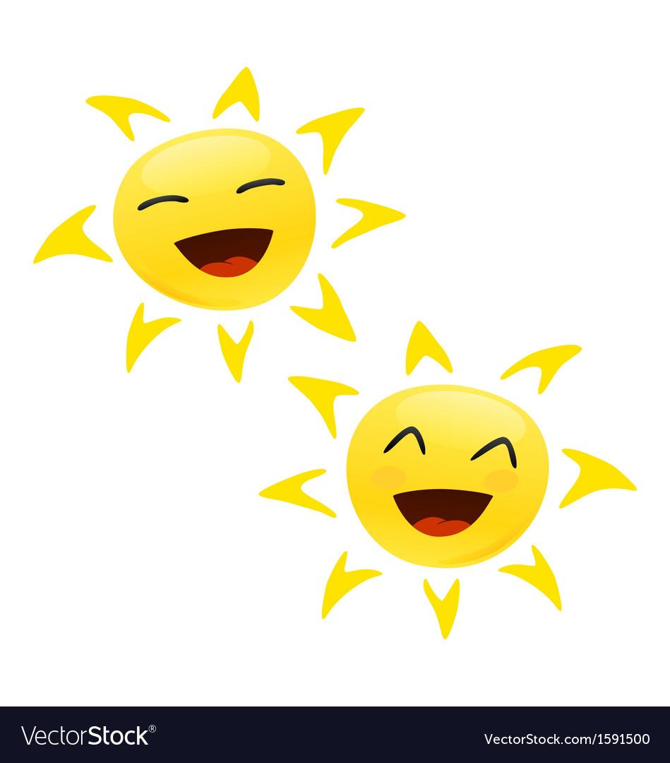 Smiling happy sun vector