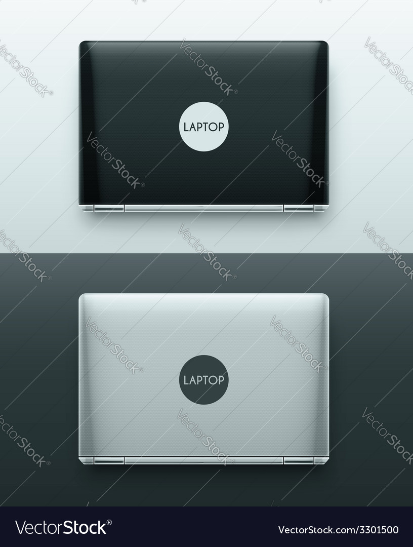Two laptops vector