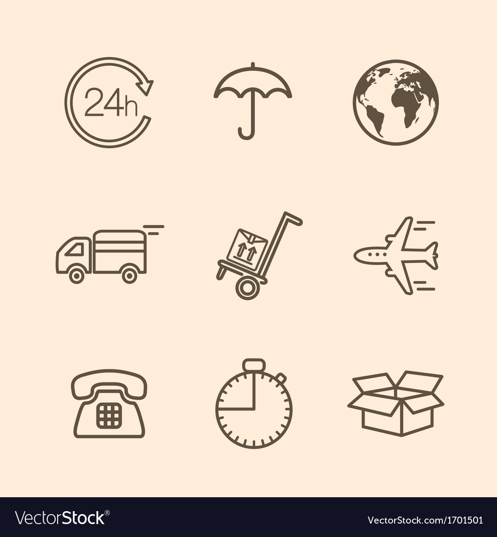 Delivery icons vector