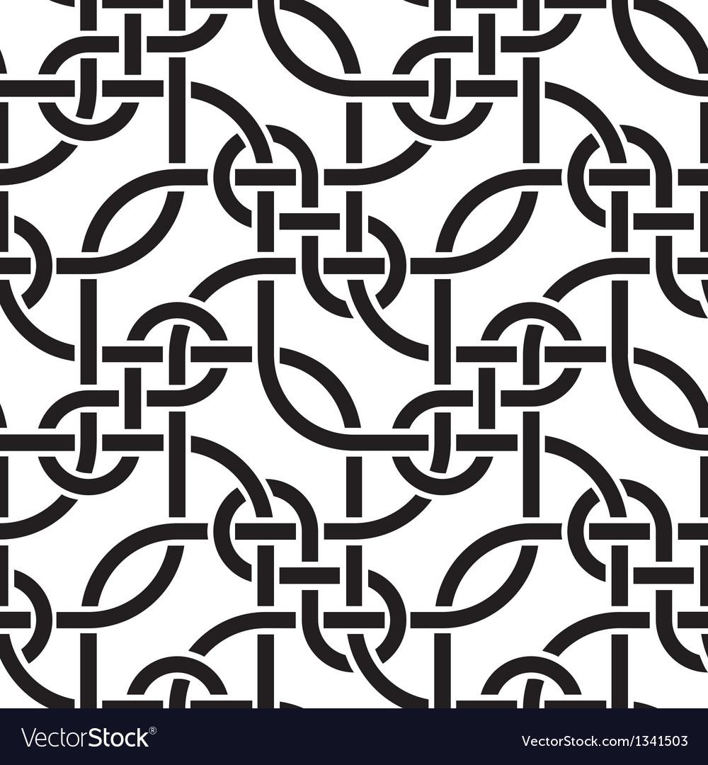 Weaving lines seamless pattern vector