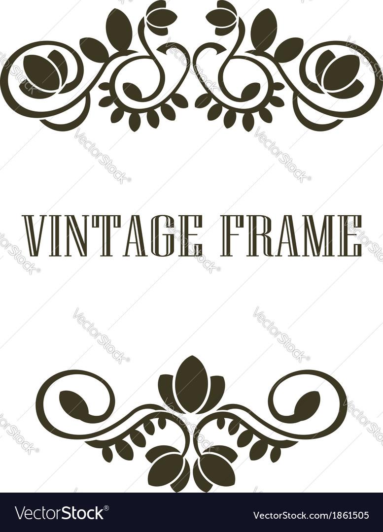 Vintage frame border elements vector