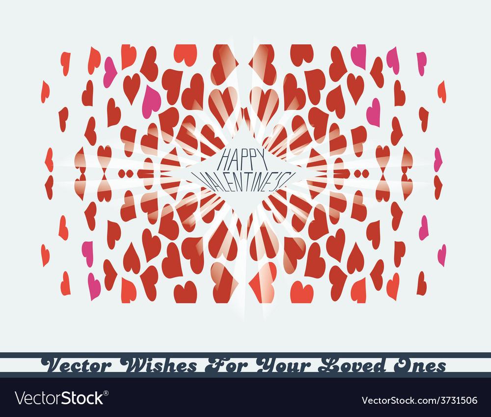 Hearts kaleidoscope vector