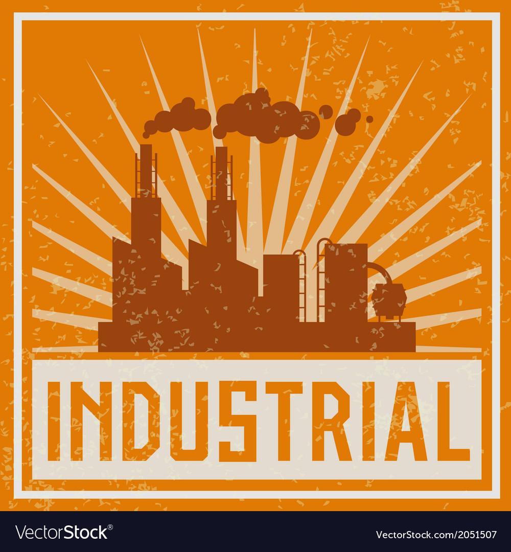 Construction industrial building icon vector