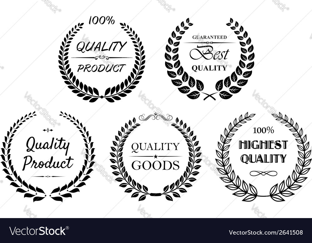 Set of quality wreaths for retail vector