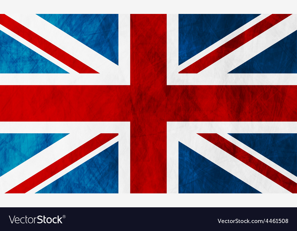 United kingdom of great britain grunge flag vector