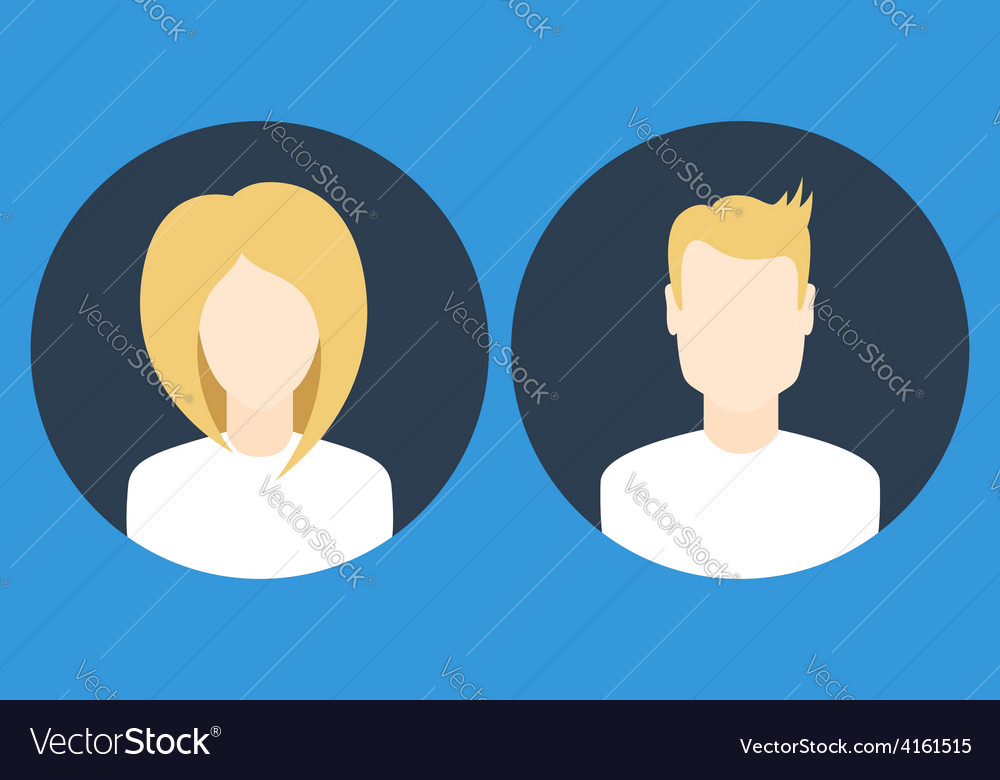 Female and male icons vector