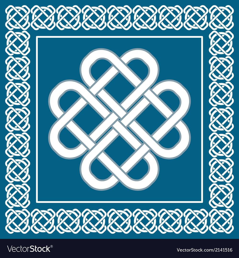 Celtic love knotirish symbol of good fortune vector