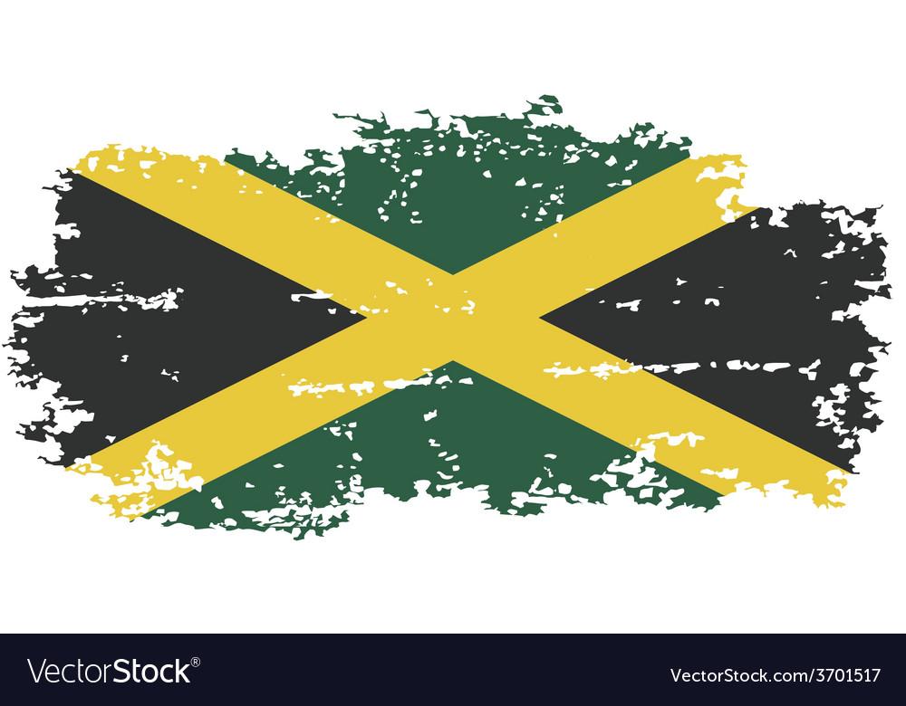 Jamaica grunge flag vector