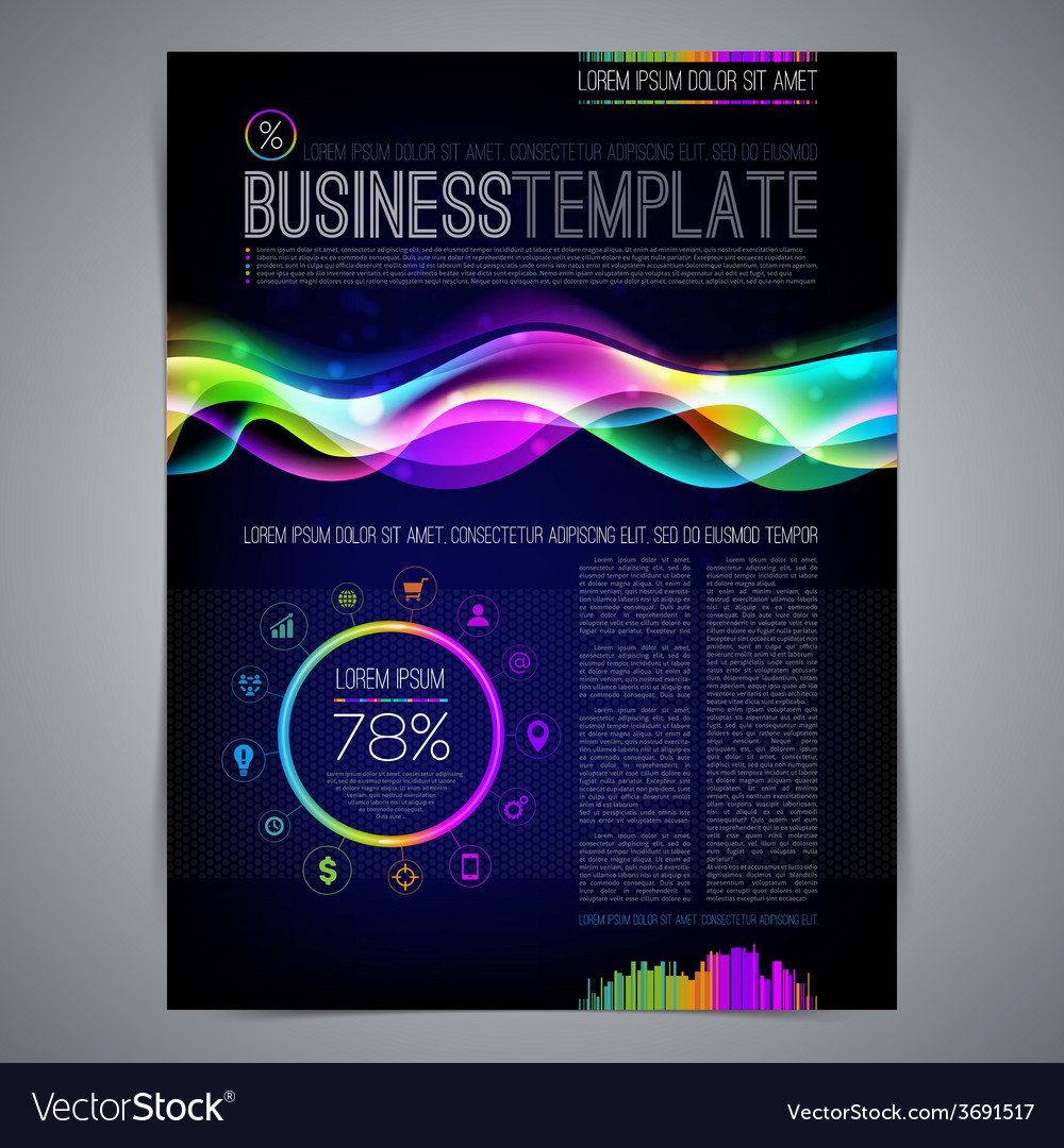 Template page design with colorful abstract shape vector