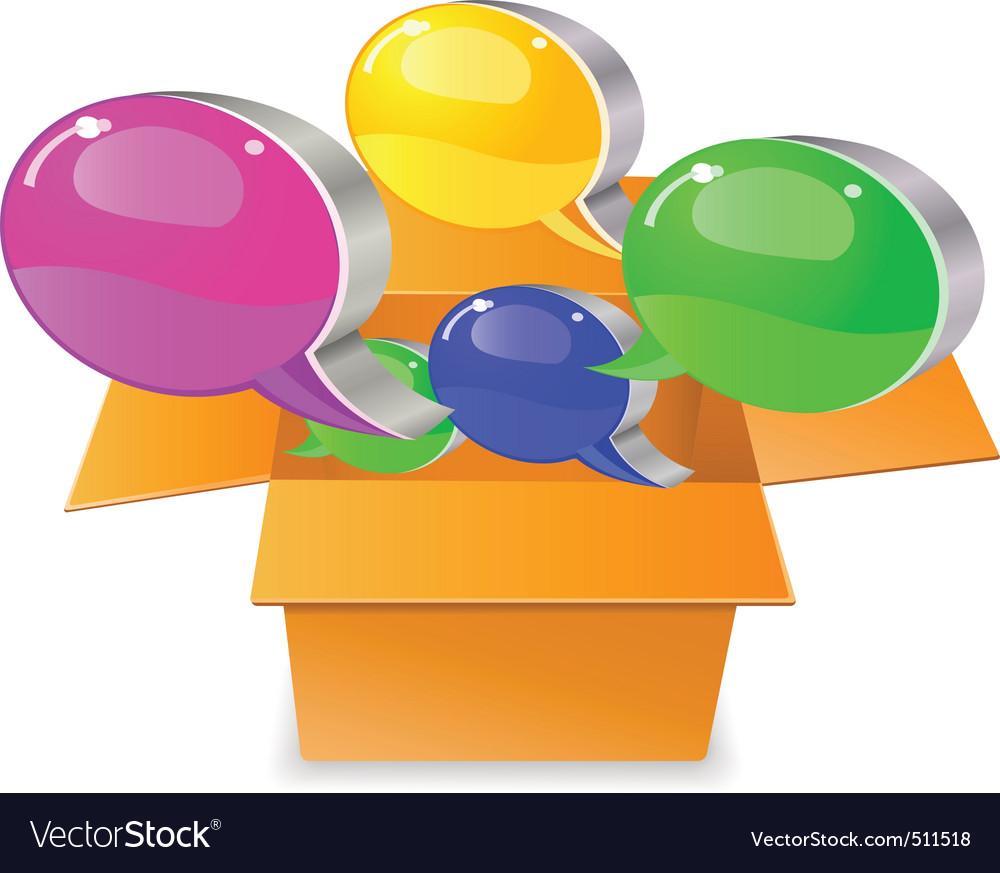 Bubble chat boxes vector