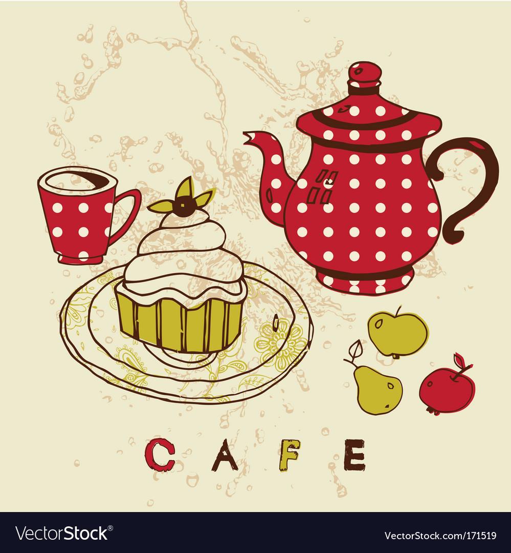 Cafe designs vector