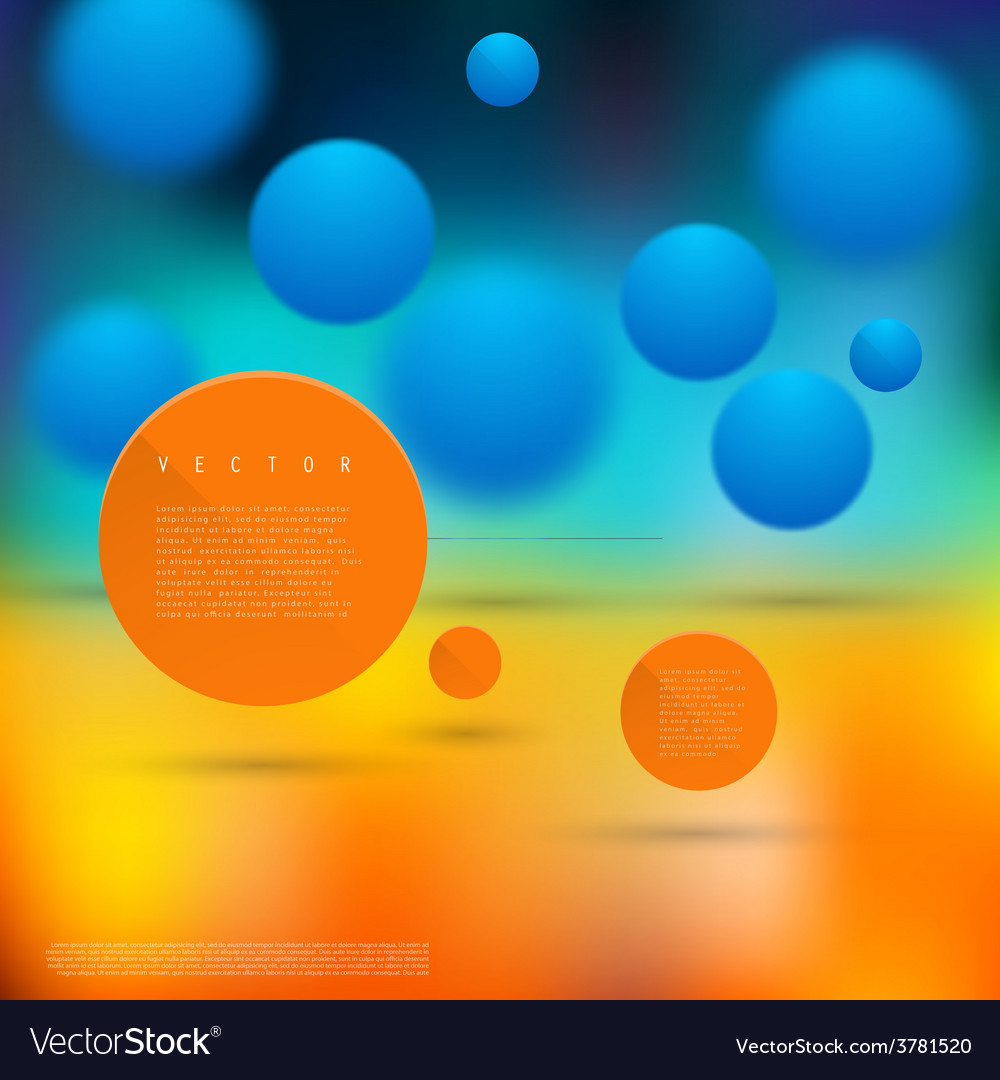 Abstract geometric shape from circles vector