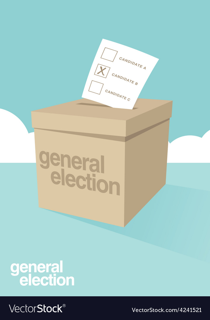 Election ballot box vector