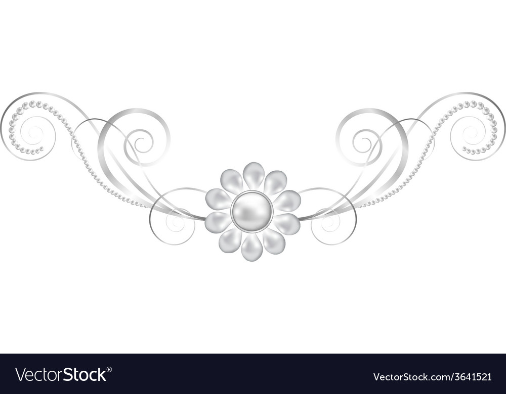 Jewelry floral frame vector