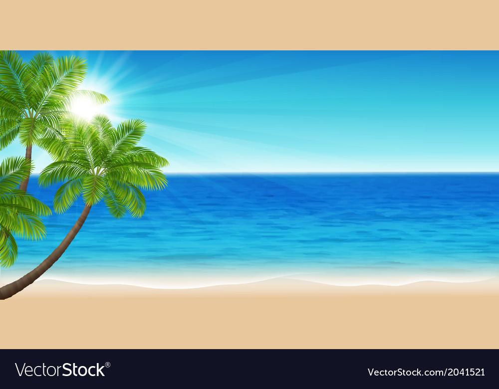 Summer sea vector