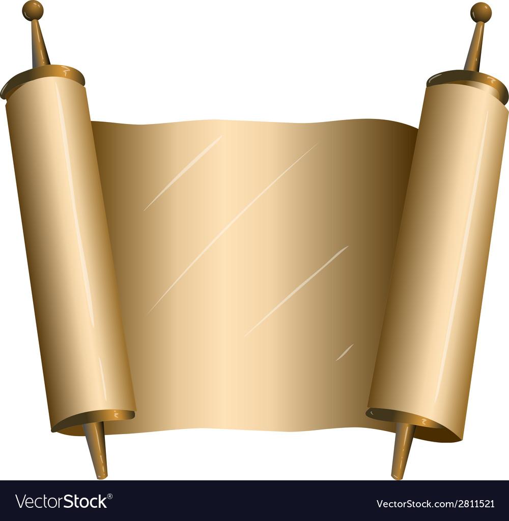 Traditional jewish torah scroll vector
