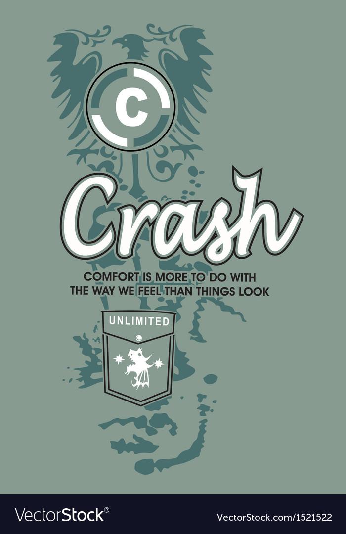 Art design with model comport crash vector